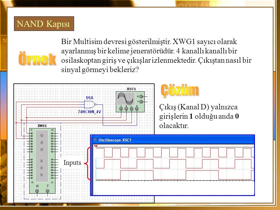 Örnek Çözüm NAND Kapısı