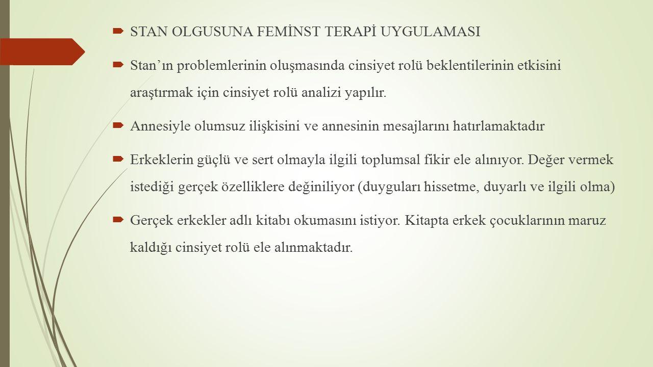 STAN OLGUSUNA FEMİNST TERAPİ UYGULAMASI