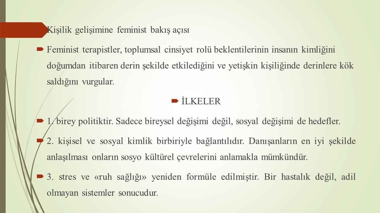 Kişilik gelişimine feminist bakış açısı