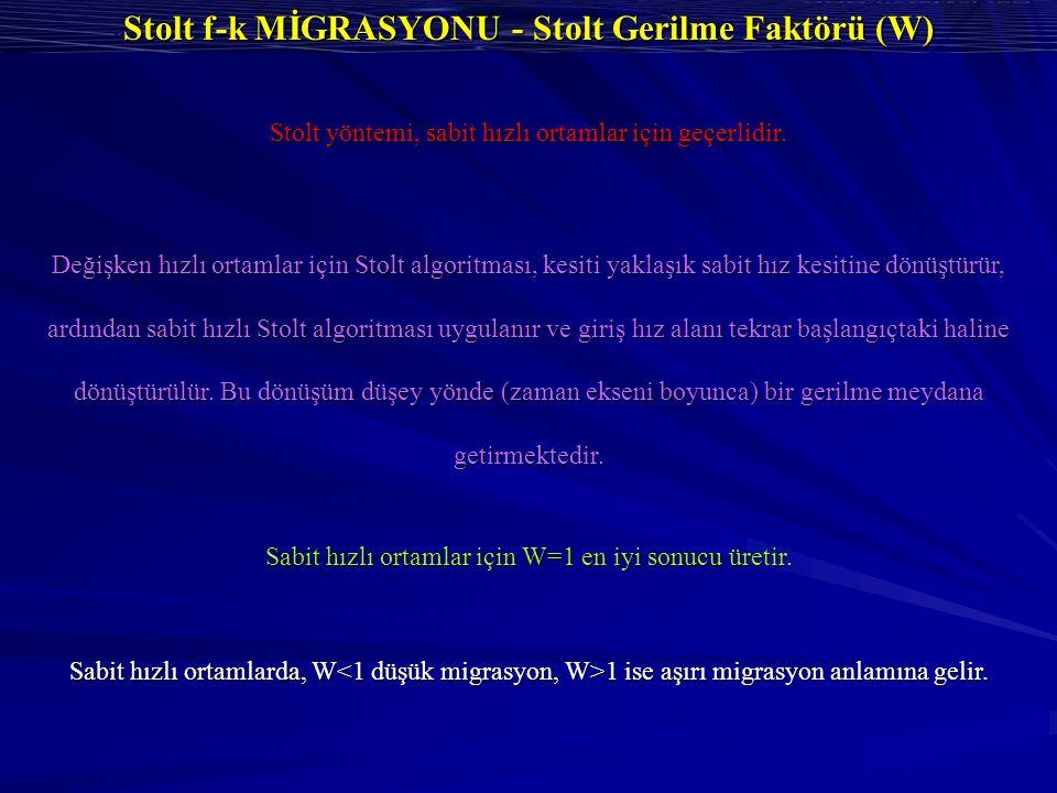 Stolt f-k MİGRASYONU - Stolt Gerilme Faktörü (W)