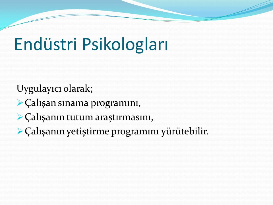 Endüstri Psikologları