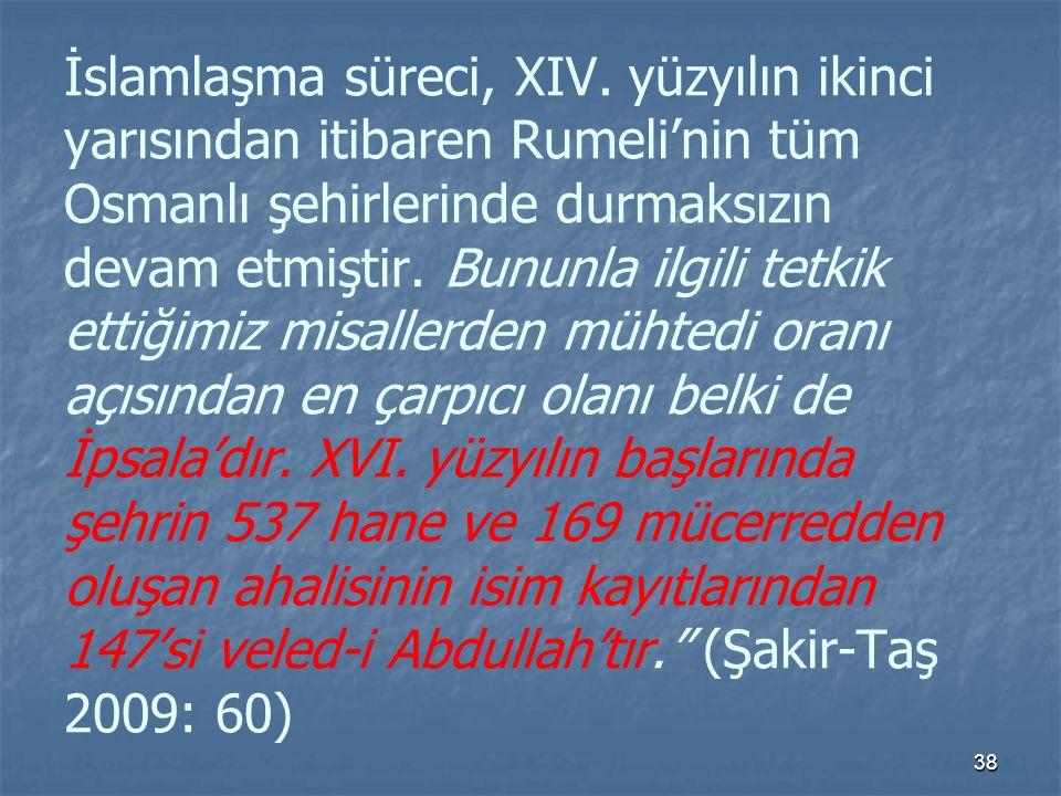 İslamlaşma süreci, XIV.
