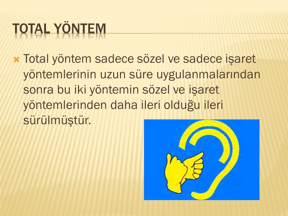 TOTAL YÖNTEM