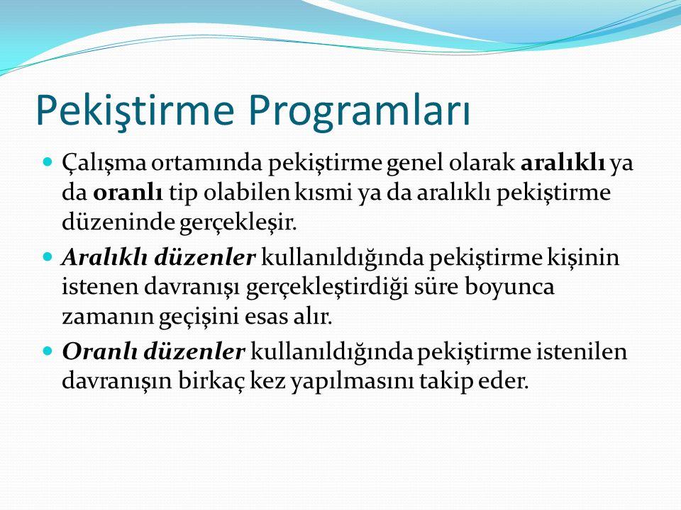 Pekiştirme Programları