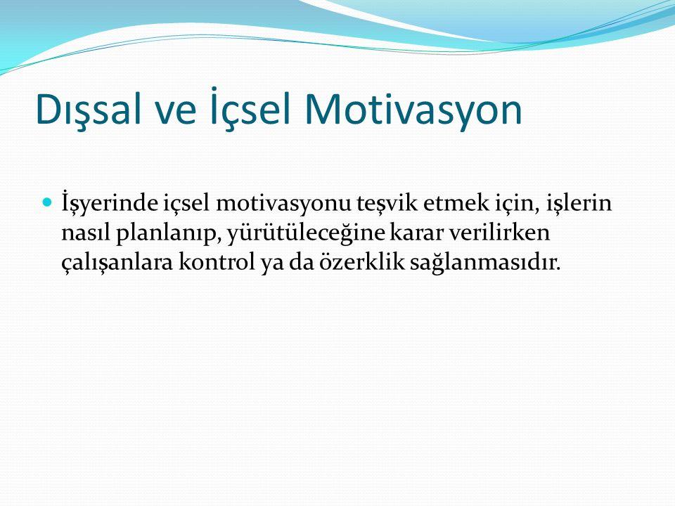Dışsal ve İçsel Motivasyon