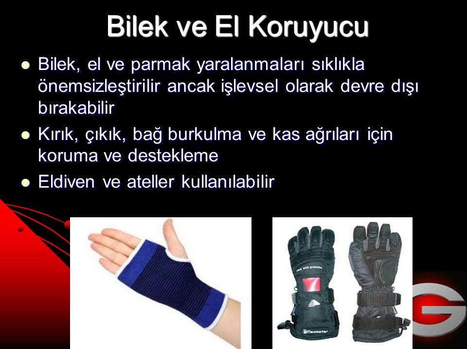 Bilek ve El Koruyucu Bilek, el ve parmak yaralanmaları sıklıkla önemsizleştirilir ancak işlevsel olarak devre dışı bırakabilir.