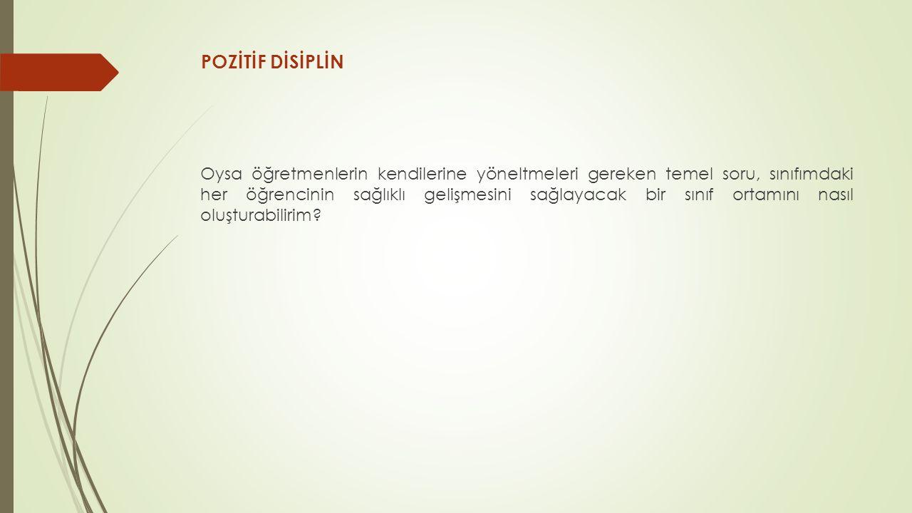 POZİTİF DİSİPLİN