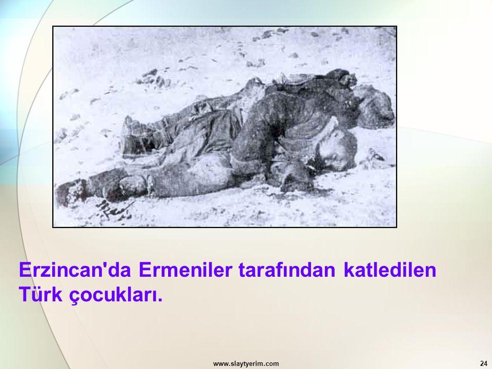 Erzincan da Ermeniler tarafından katledilen Türk çocukları.