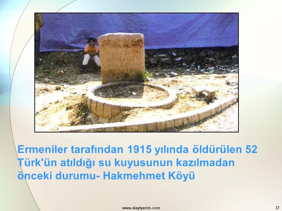 Ermeniler tarafından 1915 yılında öldürülen 52 Türk ün atıldığı su kuyusunun kazılmadan önceki durumu- Hakmehmet Köyü