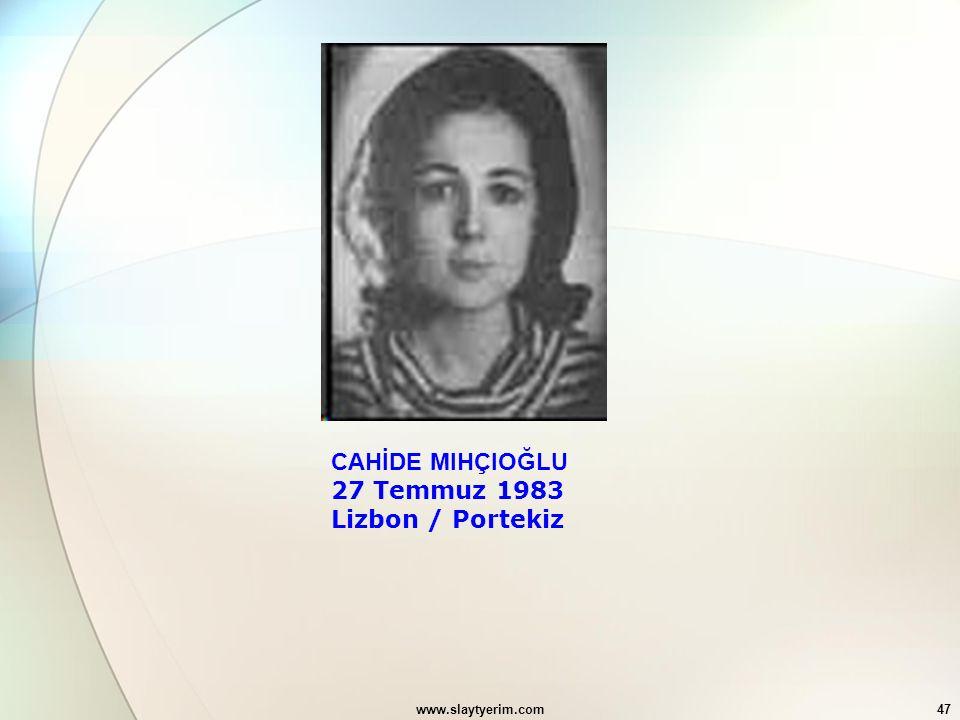 27 Temmuz 1983 Lizbon / Portekiz