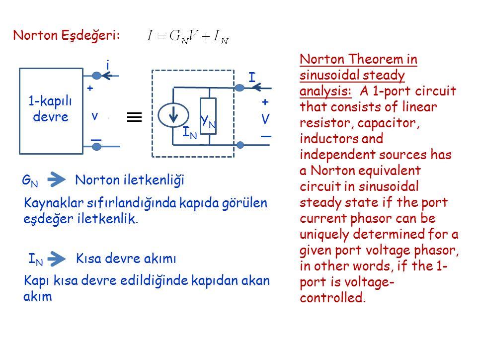 Norton Eşdeğeri: