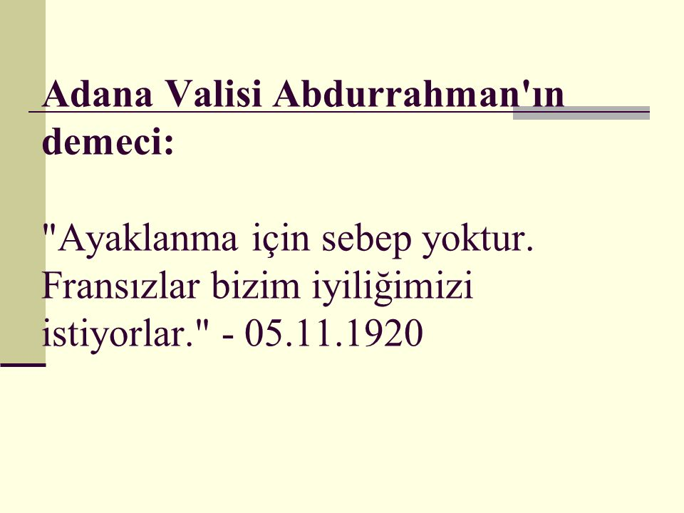 Adana Valisi Abdurrahman ın demeci: Ayaklanma için sebep yoktur