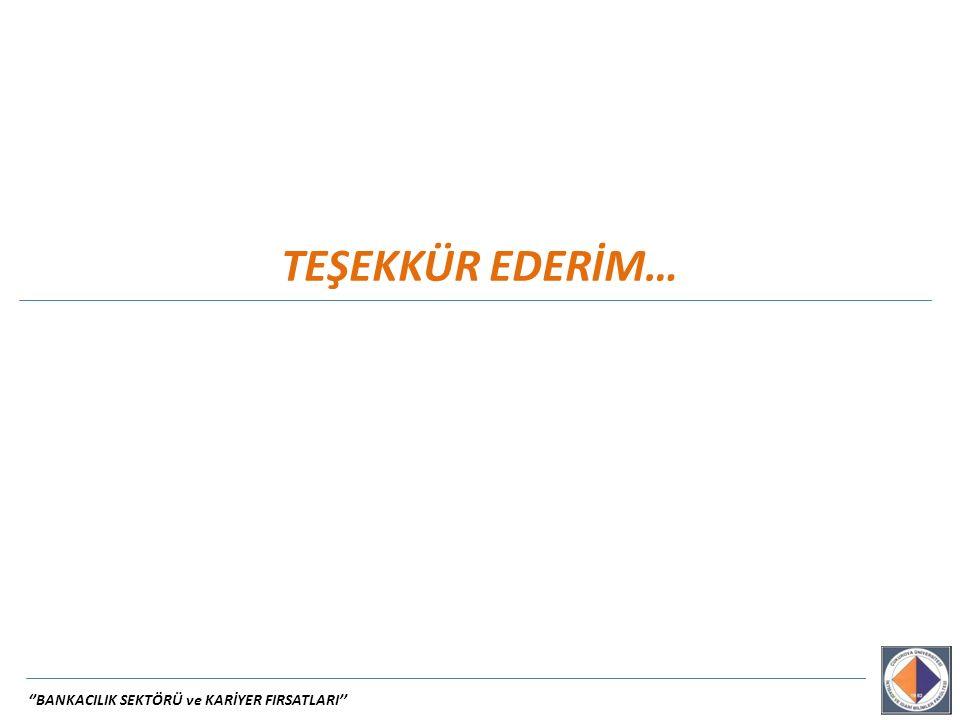 TEŞEKKÜR EDERİM… ''BANKACILIK SEKTÖRÜ ve KARİYER FIRSATLARI''
