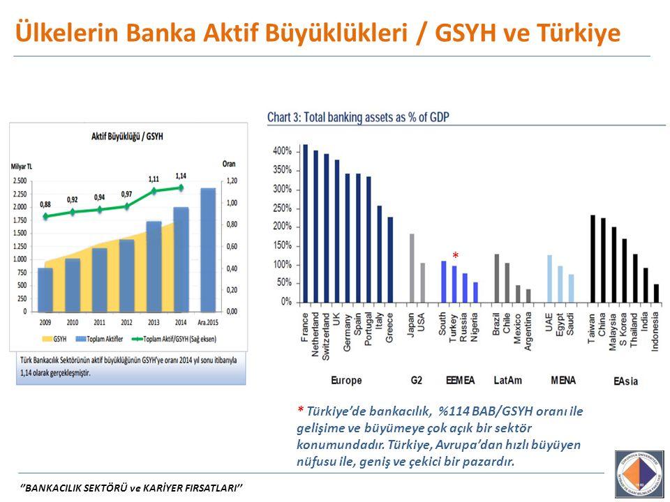 Ülkelerin Banka Aktif Büyüklükleri / GSYH ve Türkiye