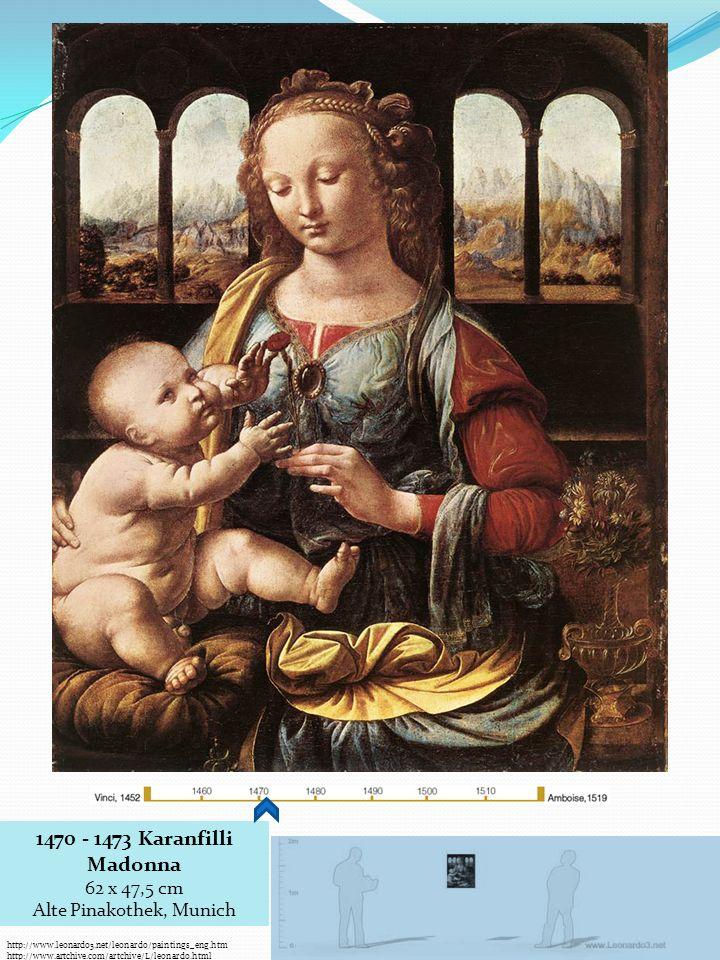 1470 - 1473 Karanfilli Madonna 62 x 47,5 cm