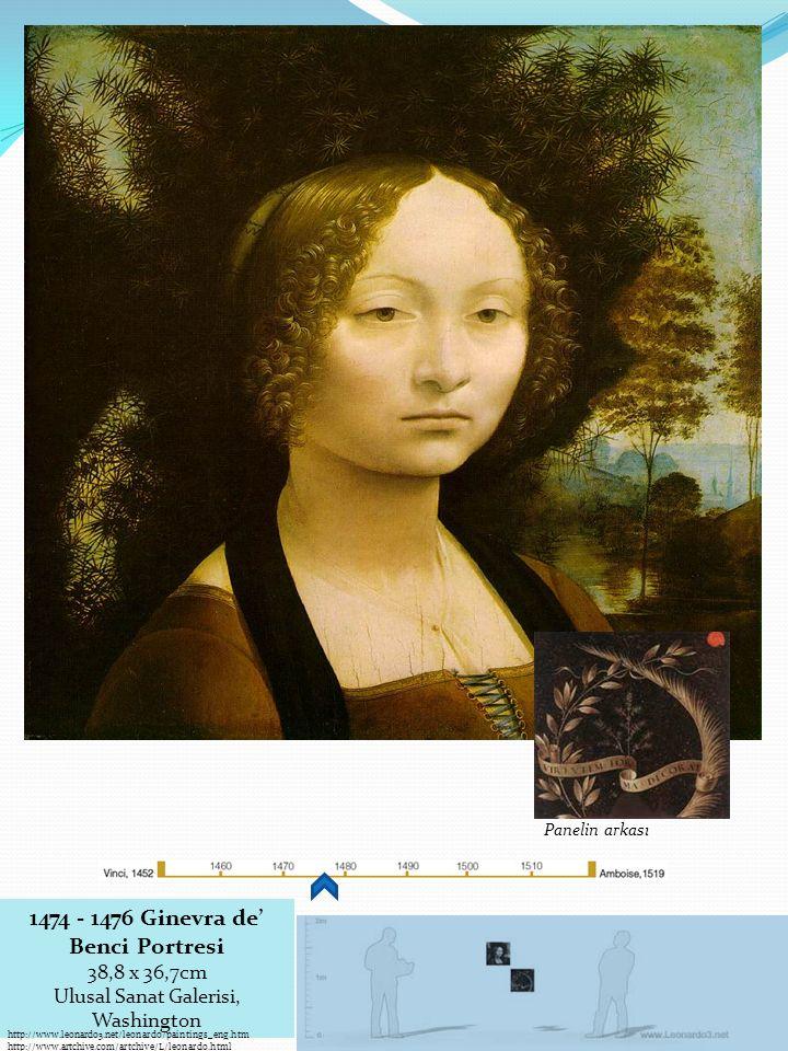 1474 - 1476 Ginevra de' Benci Portresi 38,8 x 36,7cm
