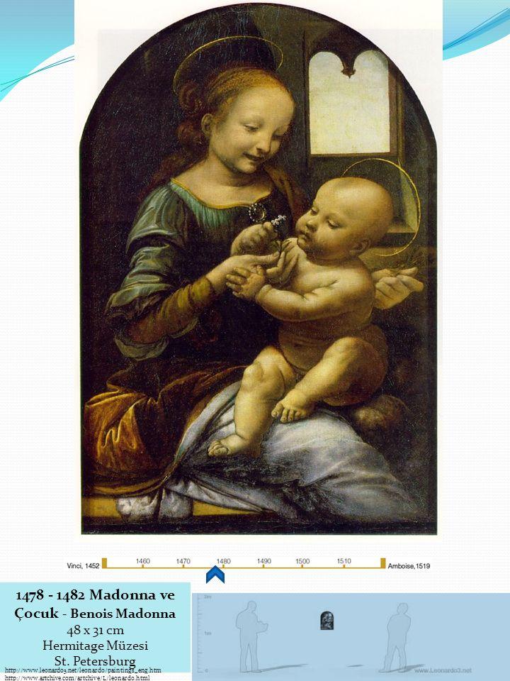 1478 - 1482 Madonna ve Çocuk - Benois Madonna 48 x 31 cm
