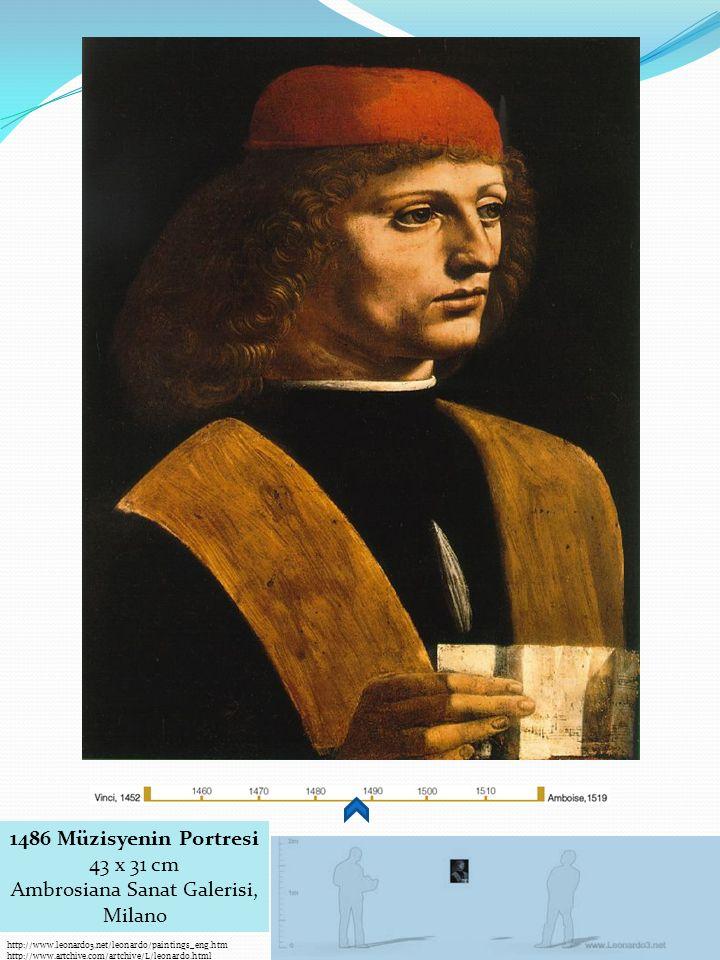 1486 Müzisyenin Portresi 43 x 31 cm Ambrosiana Sanat Galerisi, Milano