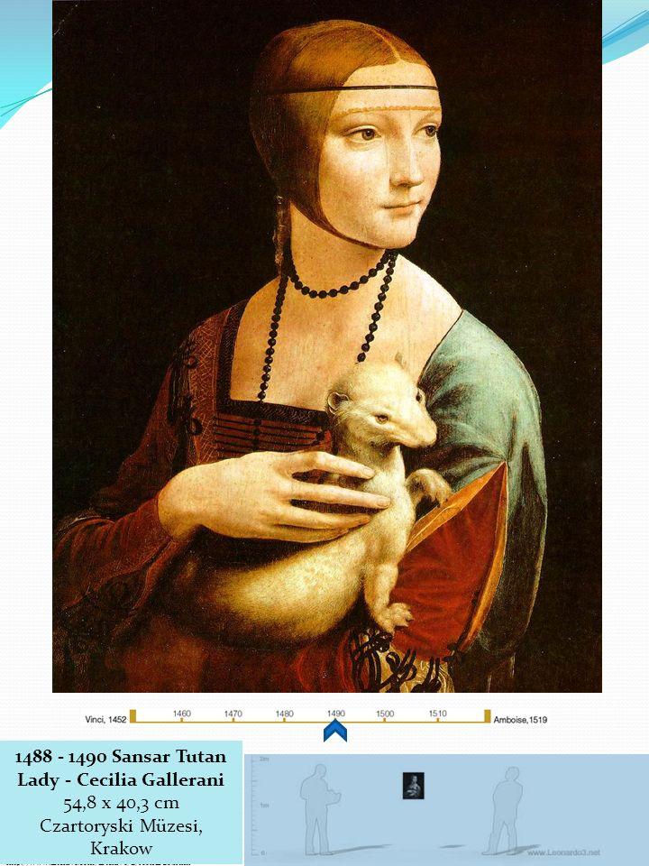 1488 - 1490 Sansar Tutan Lady - Cecilia Gallerani 54,8 x 40,3 cm