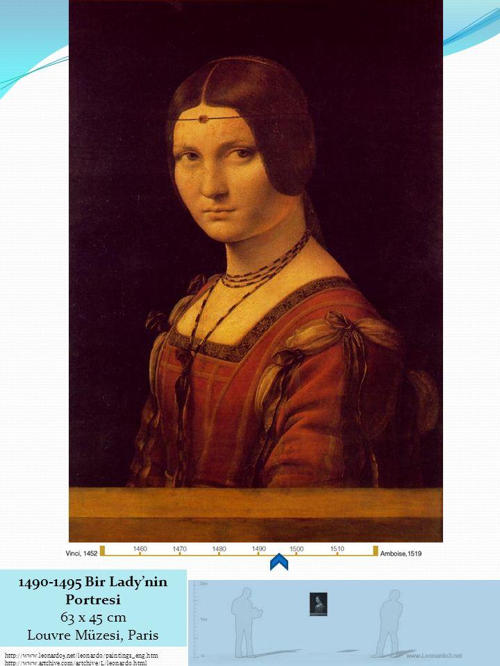 1490-1495 Bir Lady'nin Portresi 63 x 45 cm