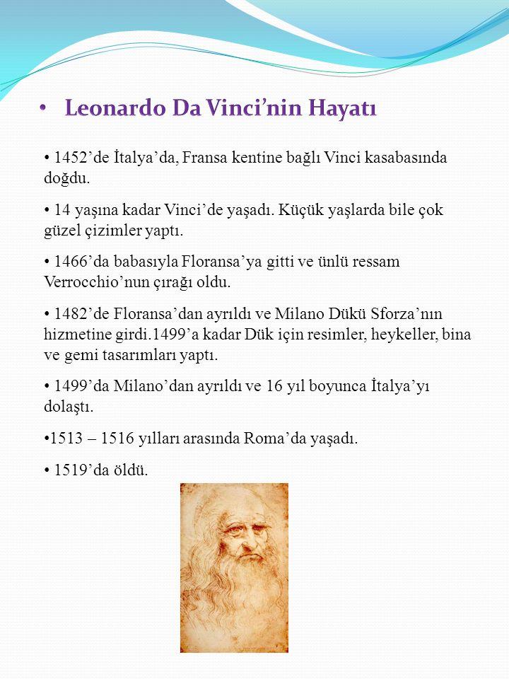Leonardo Da Vinci'nin Hayatı