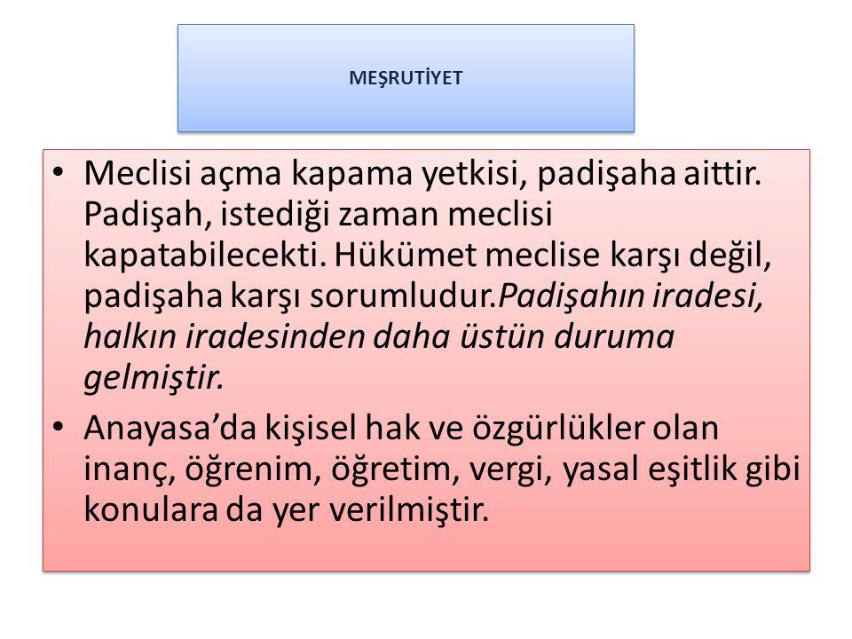 MEŞRUTİYET