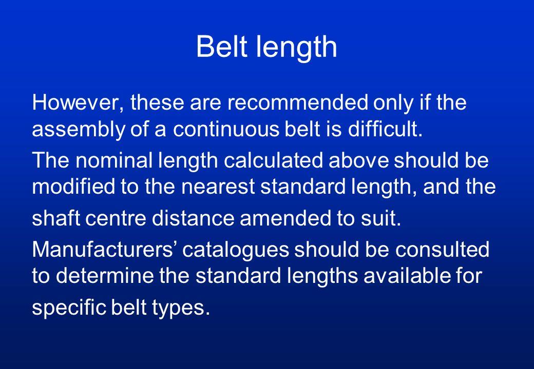 Belt length