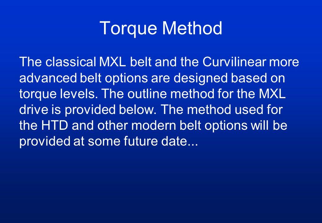 Torque Method