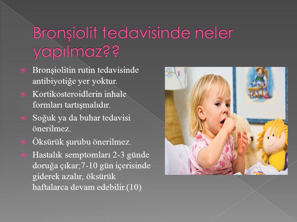 Bronşiolit tedavisinde neler yapılmaz