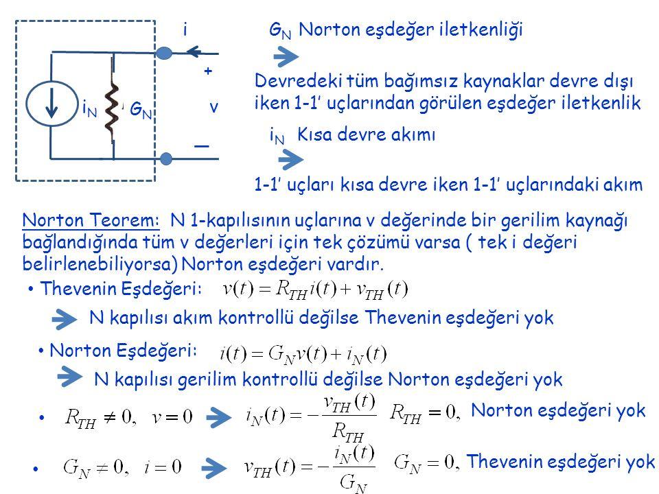 _ + v i GN iN GN Norton eşdeğer iletkenliği