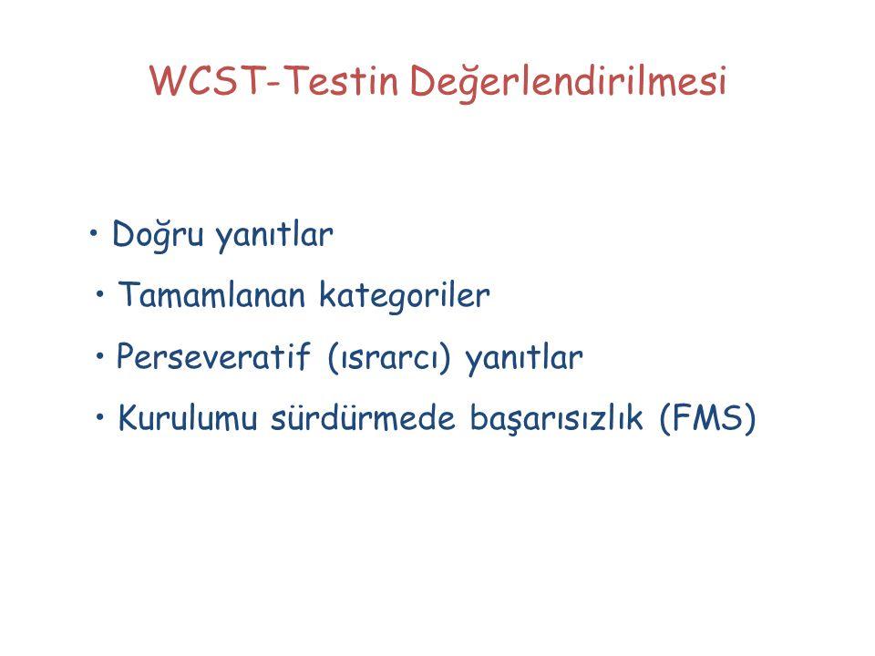 WCST-Testin Değerlendirilmesi