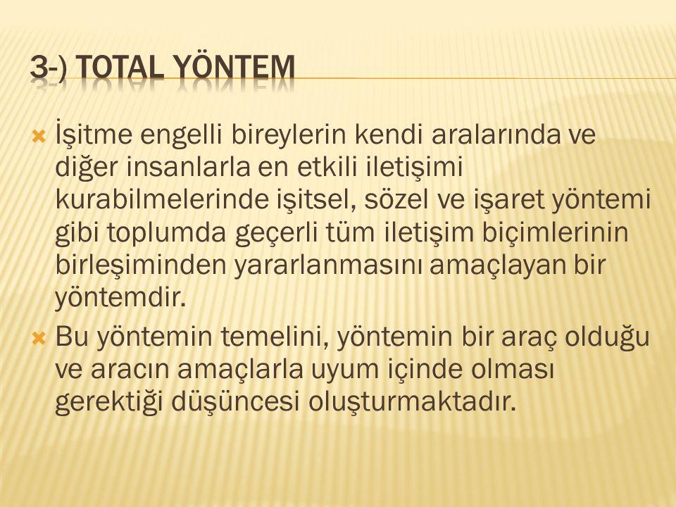 3-) total yöntem