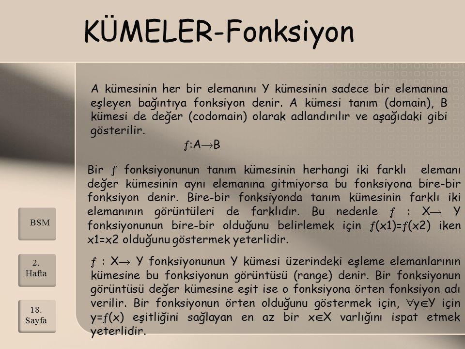 KÜMELER-Fonksiyon