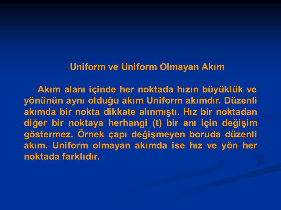 Uniform ve Uniform Olmayan Akım