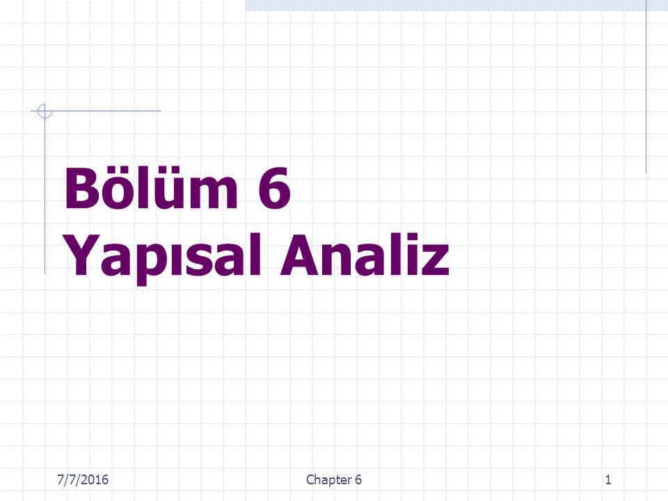 Bölüm 6 Yapısal Analiz 4/28/2017 Chapter 6