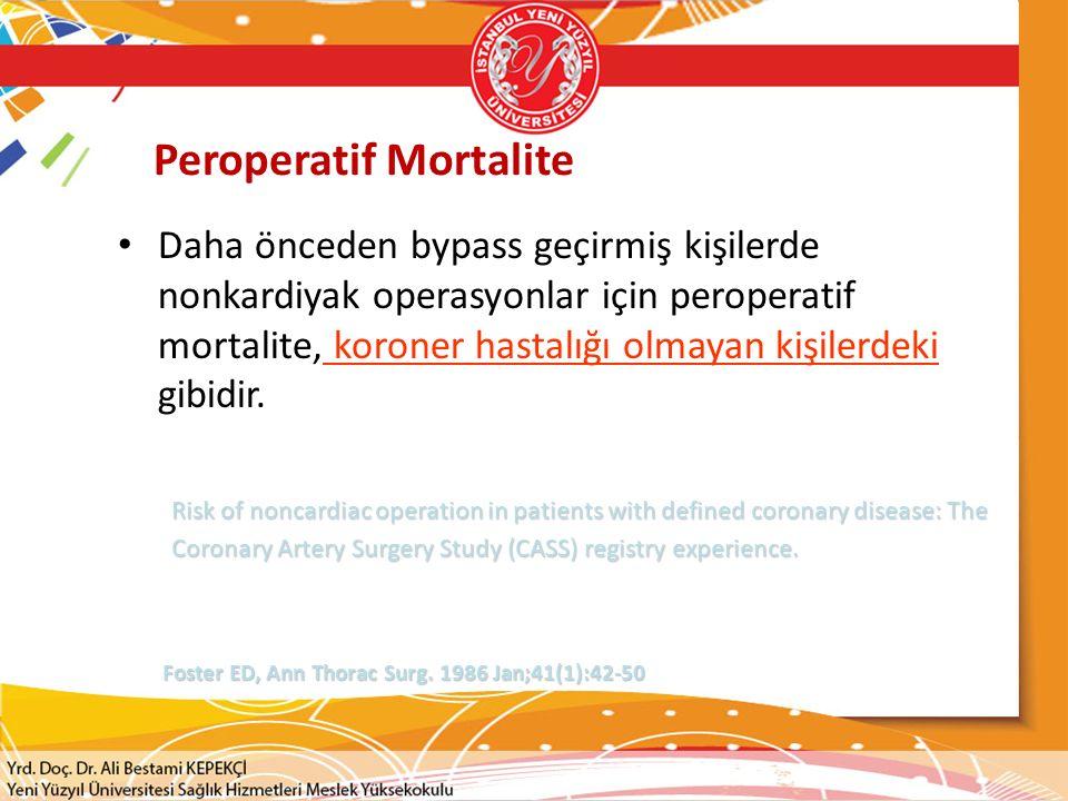 Peroperatif Mortalite