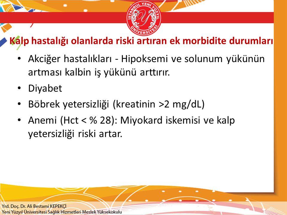 Kalp hastalığı olanlarda riski artıran ek morbidite durumları