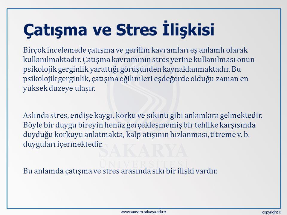 Çatışma ve Stres İlişkisi