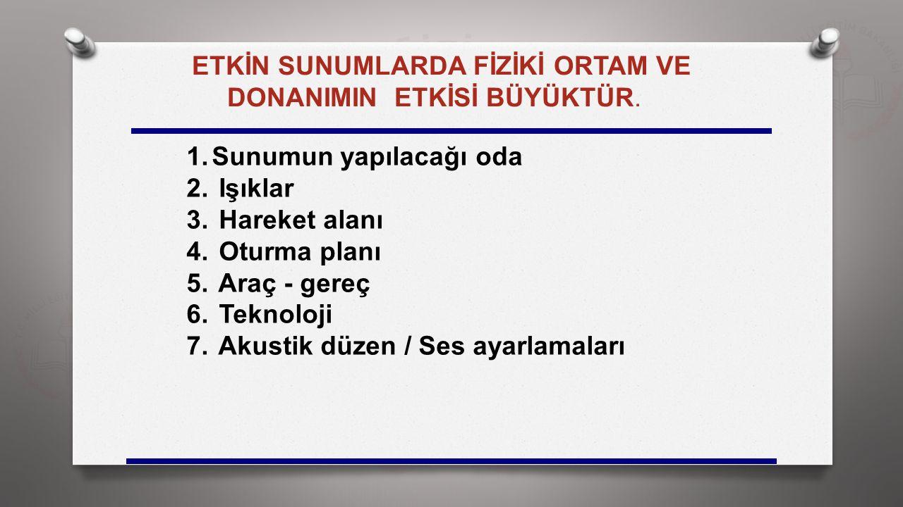 DONANIMIN ETKİSİ BÜYÜKTÜR.