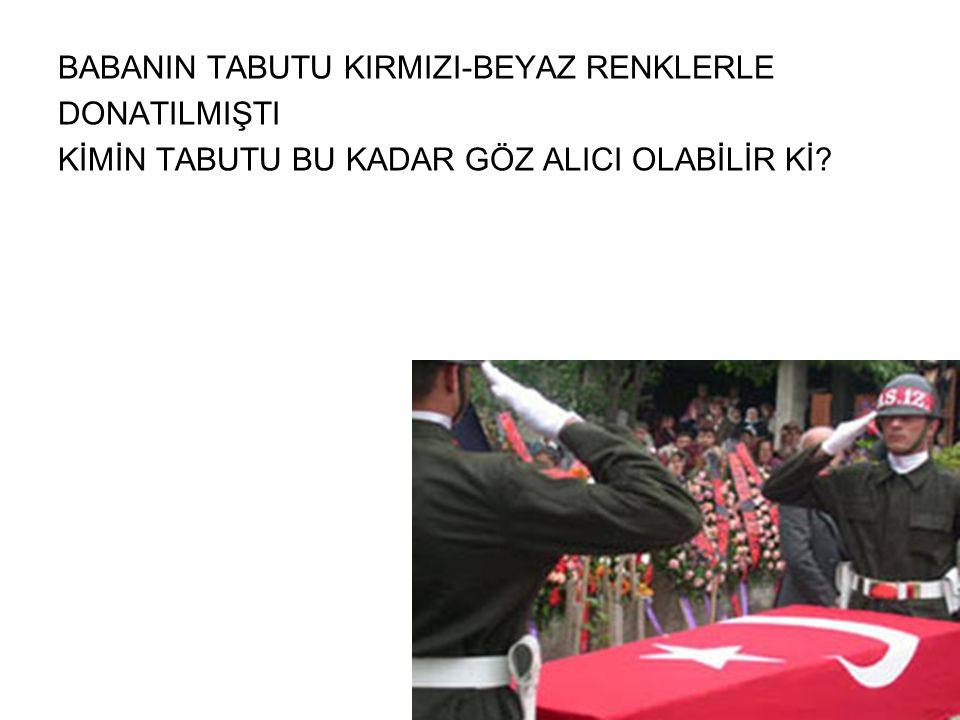 BABANIN TABUTU KIRMIZI-BEYAZ RENKLERLE