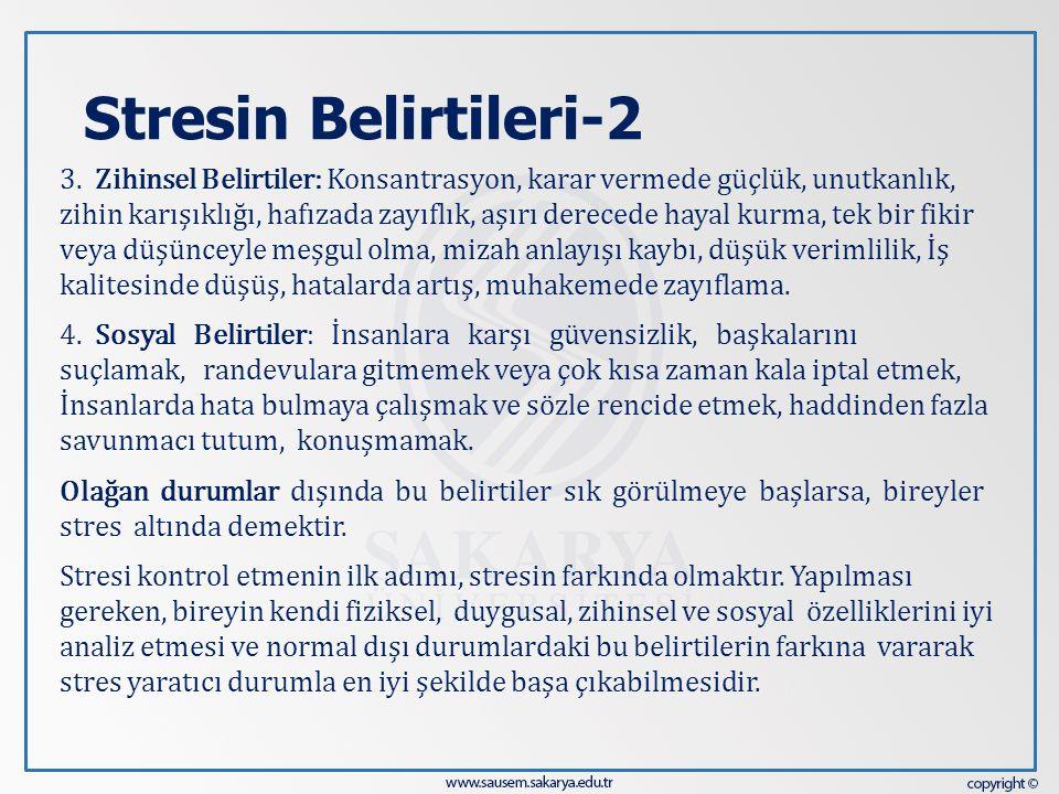 Stresin Belirtileri-2