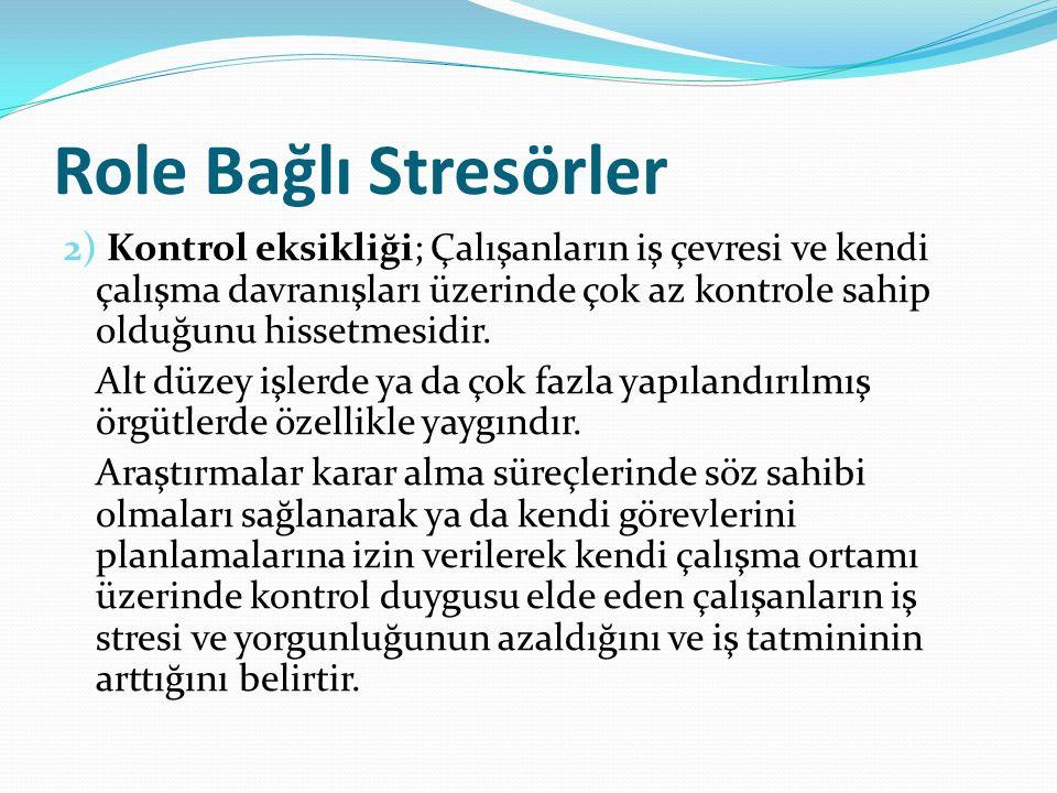 Role Bağlı Stresörler