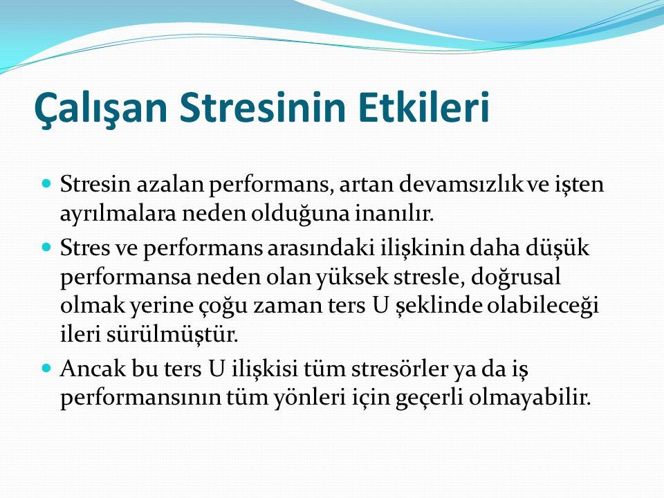 Çalışan Stresinin Etkileri