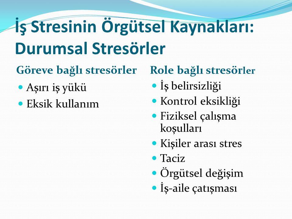 İş Stresinin Örgütsel Kaynakları: Durumsal Stresörler