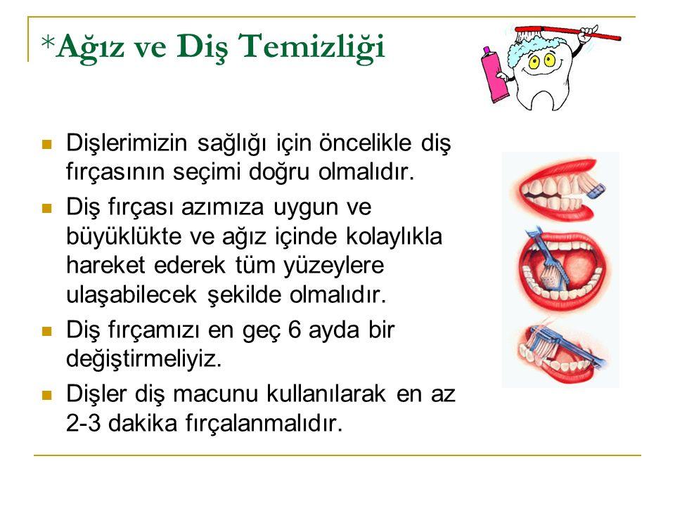*Ağız ve Diş Temizliği Dişlerimizin sağlığı için öncelikle diş fırçasının seçimi doğru olmalıdır.