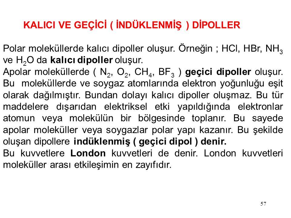 KALICI VE GEÇİCİ ( İNDÜKLENMİŞ ) DİPOLLER