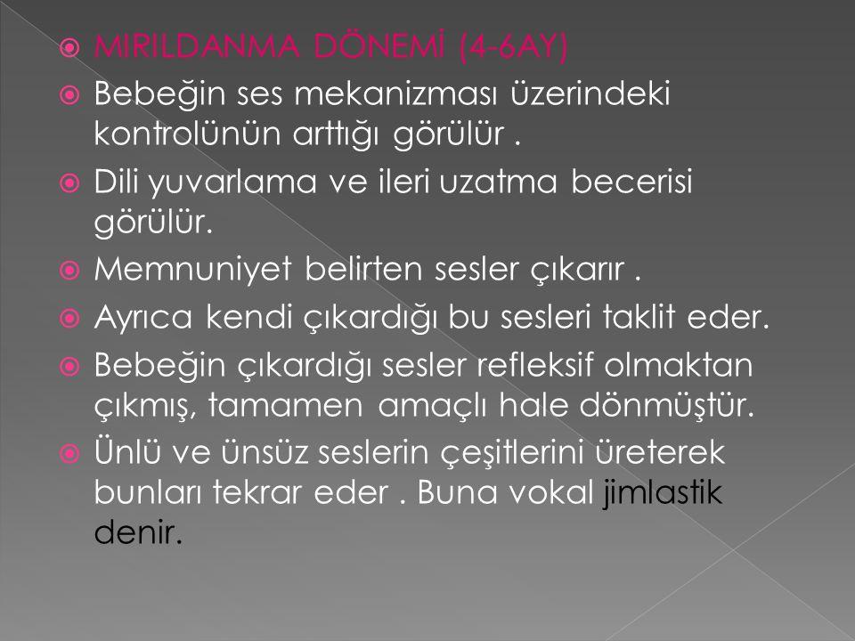 MIRILDANMA DÖNEMİ (4-6AY)