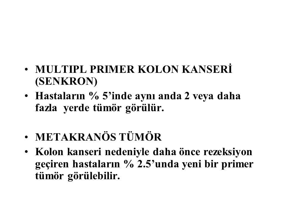 MULTIPL PRIMER KOLON KANSERİ (SENKRON)