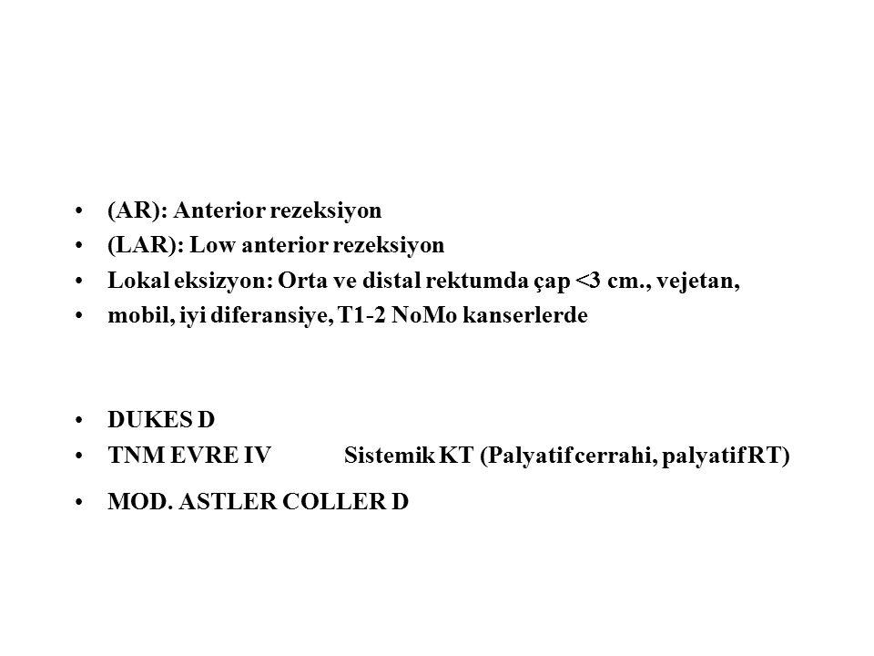 (AR): Anterior rezeksiyon