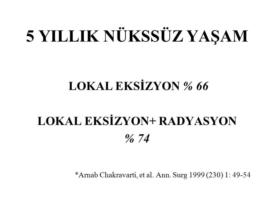 LOKAL EKSİZYON+ RADYASYON